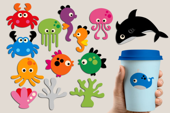 Print on Demand: Under the Sea Graphic Illustrations By Revidevi