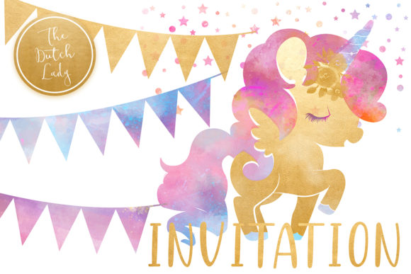 Download Free Unicorn Birthday Party Clipart Set Graphic By Daphnepopuliers for Cricut Explore, Silhouette and other cutting machines.