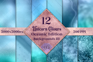 Unicorn Colours Backgrounds III Oceanic Graphic By SapphireXDesigns