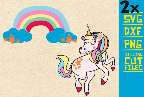 Unicorn Svg , Rainbow Svg, Unicorn Horn Graphic By svgyeahyouknowme Image 1