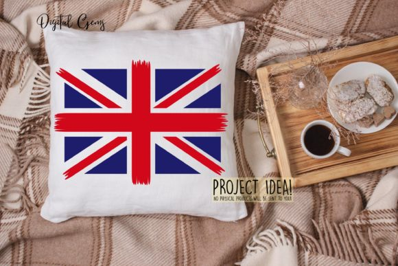 Download Free Union Jack Flag Design Graphic By Digital Gems Creative Fabrica for Cricut Explore, Silhouette and other cutting machines.