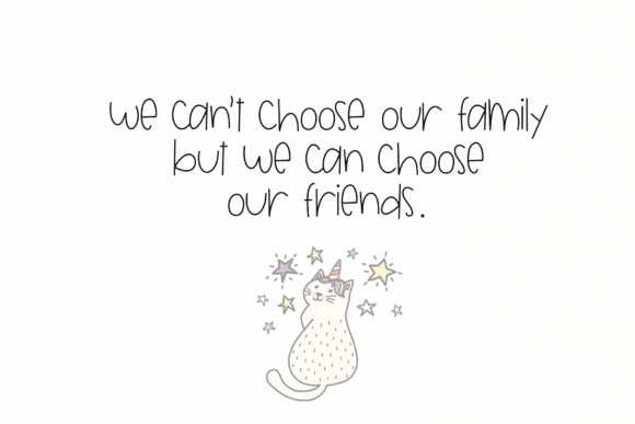 Print on Demand: Unlikely Friends Display Font By KA Designs - Image 7