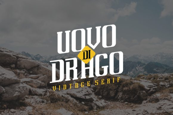 Print on Demand: Uovo Di Drago Serif Font By EdricStudio - Image 2