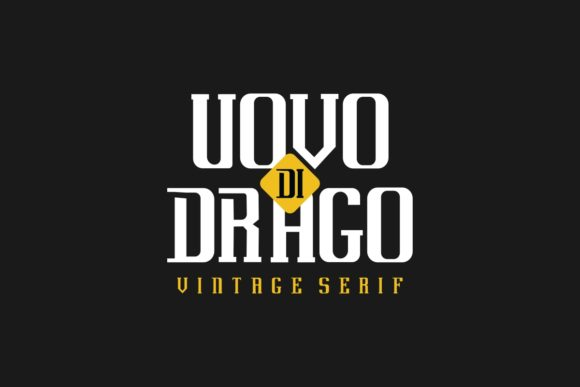 Print on Demand: Uovo Di Drago Serif Font By EdricStudio - Image 1