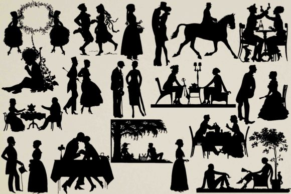 Print on Demand: VIntage Silhouettes Graphic Illustrations By retrowalldecor