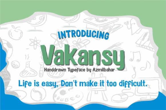 Vakansy Font By Sons Of Baidlowi Image 1
