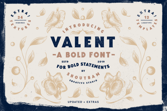 Print on Demand: Valent Serif Font By Shoutbam