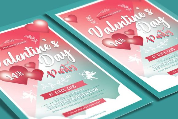 Valentines Day Party Graphic Print Templates By muhamadiqbalhidayat - Image 3