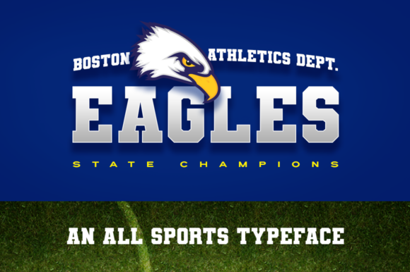 Print on Demand: Varsity Team Display Font By DonMarciano - Image 2