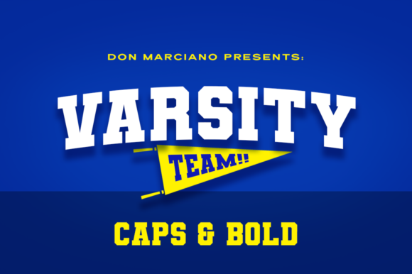 Print on Demand: Varsity Team Display Font By DonMarciano
