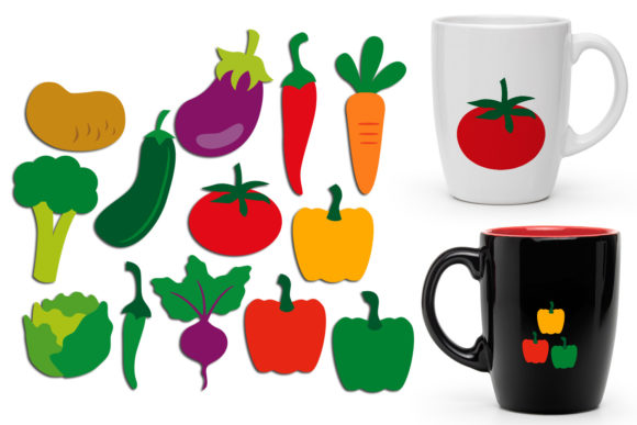Print on Demand: Vegetables Graphic Illustrations By Revidevi