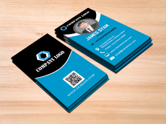 Print on Demand: Vertical Business Card Graphic Print Templates By polahdesign