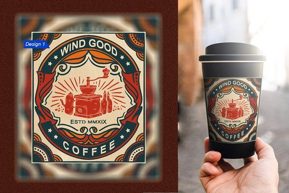 Download Free Vintage Coffee Logo Alternative Graphic By Asep Maulana Ramdhan for Cricut Explore, Silhouette and other cutting machines.