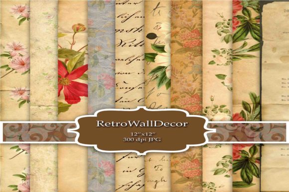 Vintage Digital Paper Graphic By retrowalldecor