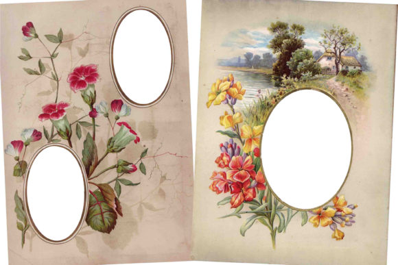 Print on Demand: Vintage Floral Frames Graphic Illustrations By retrowalldecor - Image 2