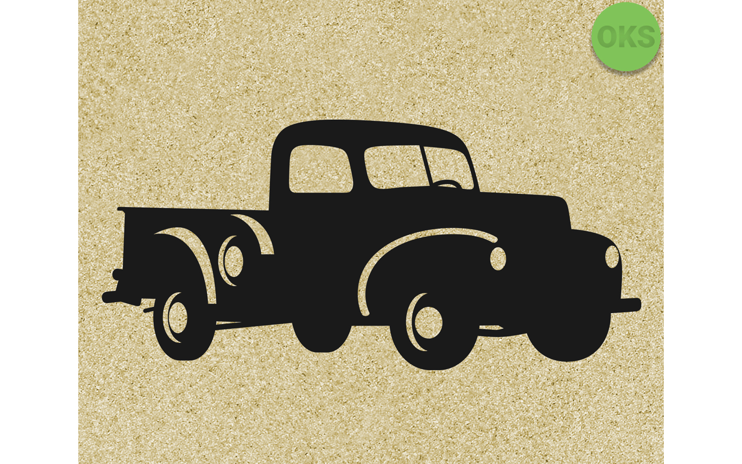 Download Free Vintage Pickup Farm Truck Graphic By Crafteroks Creative Fabrica for Cricut Explore, Silhouette and other cutting machines.