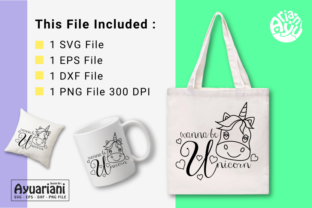 Download Free Wanna Be Unicorn Svg Cutting File Graphic By Ayuariani SVG Cut Files