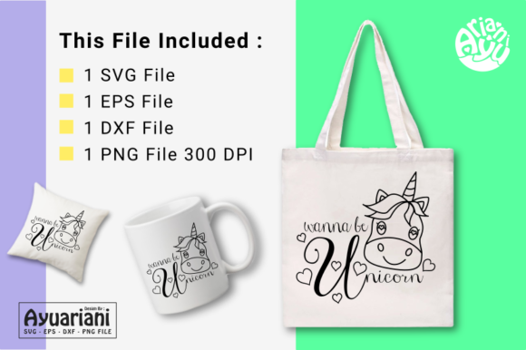 Download Free Wanna Be Unicorn Svg Cutting File Graphic By Ayuariani for Cricut Explore, Silhouette and other cutting machines.