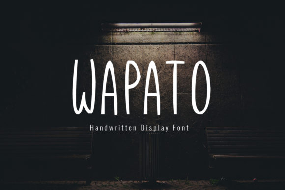 Print on Demand: Wapato Display Font By Shattered Notion