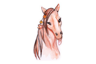 Water Color Horse Head Craft Design By Creative Fabrica Crafts