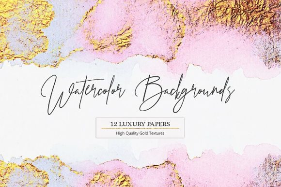 Print on Demand: Watercolor Backgrounds Gráfico Moldes Por Creative Paper