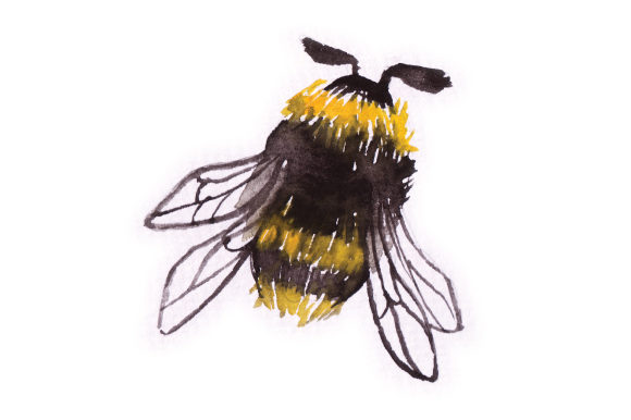 Download Free Watercolor Bumblebee Svg Cut File By Creative Fabrica Crafts for Cricut Explore, Silhouette and other cutting machines.