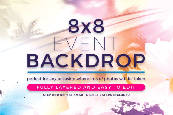 Print on Demand: Watercolor Event Backdrop Template Graphic Print Templates By seraphimchris
