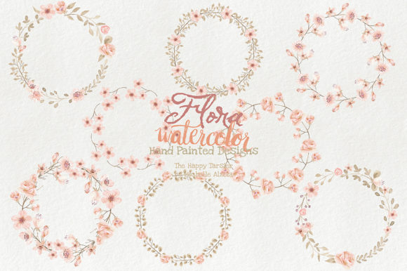 Watercolor Floral Clipart Orange Peach Graphic By Michelle Alzola Image 6