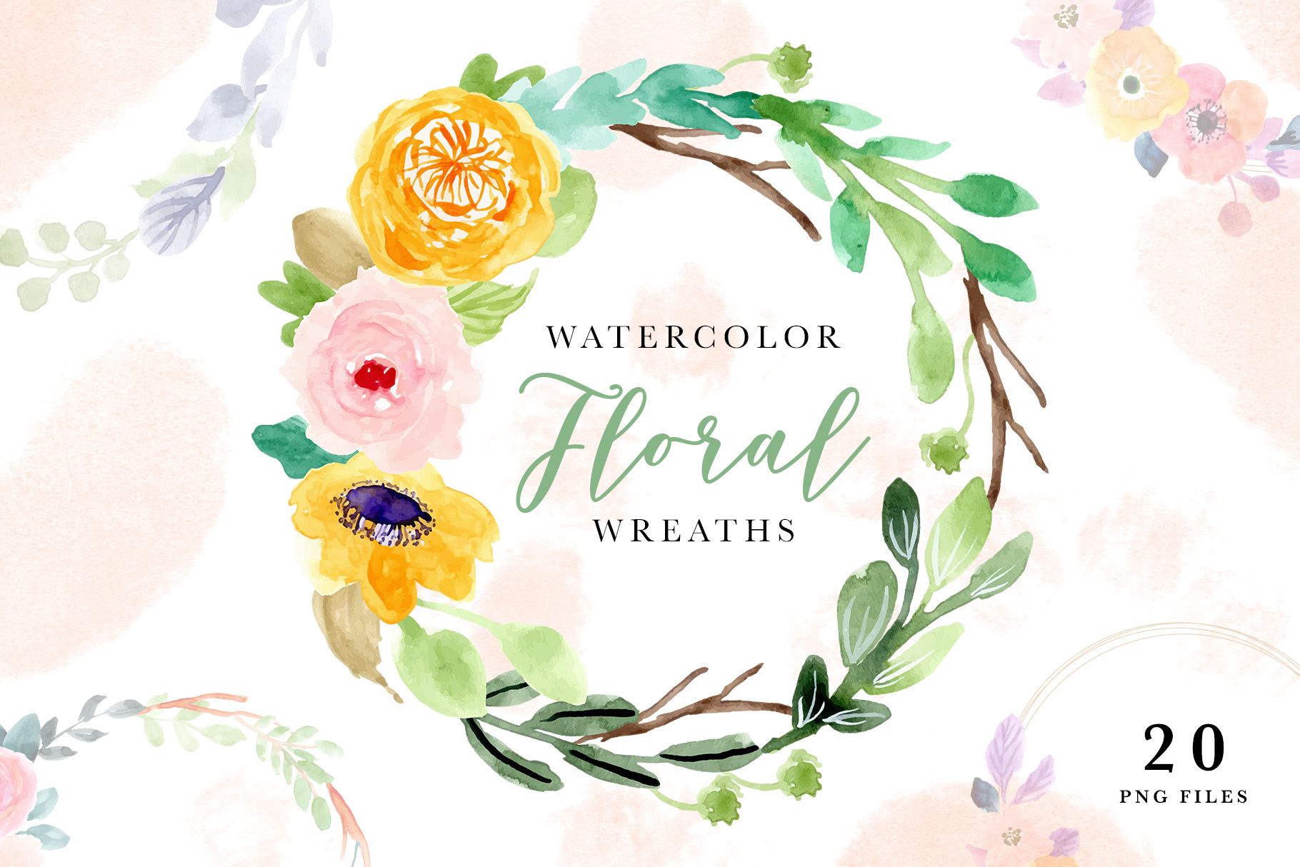 Watercolor Floral Wreaths Vol 2 Graphic By Wulano Creative Fabrica