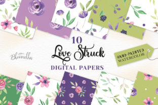 Watercolor Flowers Love Struck Patterns Graphic By Bloomella