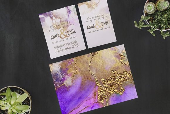 Watercolor Gold Textures Graphic Backgrounds By Creative Paper