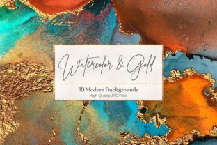 Artistic Watercolor Gold Textures Graphic By artisssticcc