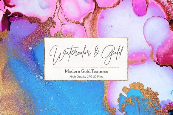 Watercolor Gold Textures Artissstic Graphic Backgrounds By Creative Paper
