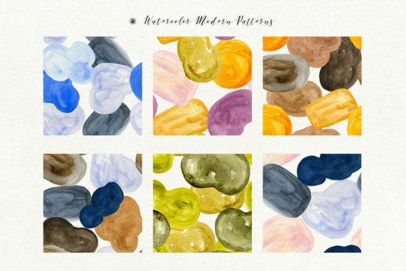 Watercolor Modern Patterns Graphic Patterns By webvilla - Image 5
