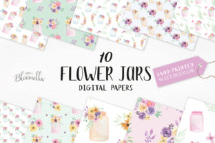 Watercolor Patterns Floral Flower Spring Graphic By Bloomella