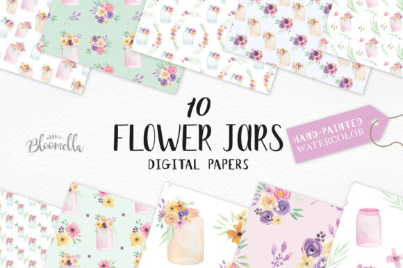 Watercolor Patterns Floral Flower Spring Graphic Patterns By Bloomella