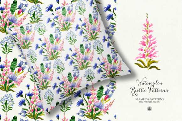 Watercolor Rustic Patterns Graphic By webvilla Image 2