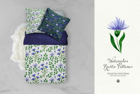 Watercolor Rustic Patterns Graphic By webvilla Image 3
