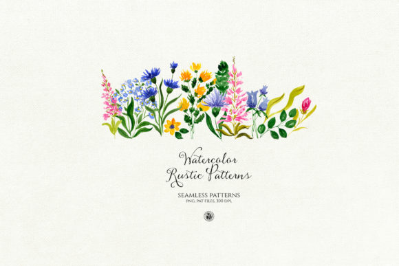 Print on Demand: Watercolor Rustic Patterns Graphic Patterns By webvilla