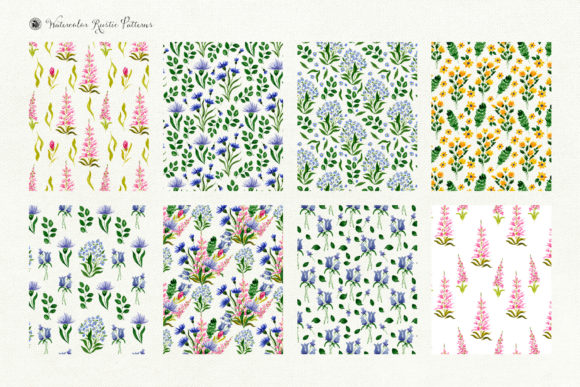 Watercolor Rustic Patterns Graphic By webvilla Image 7