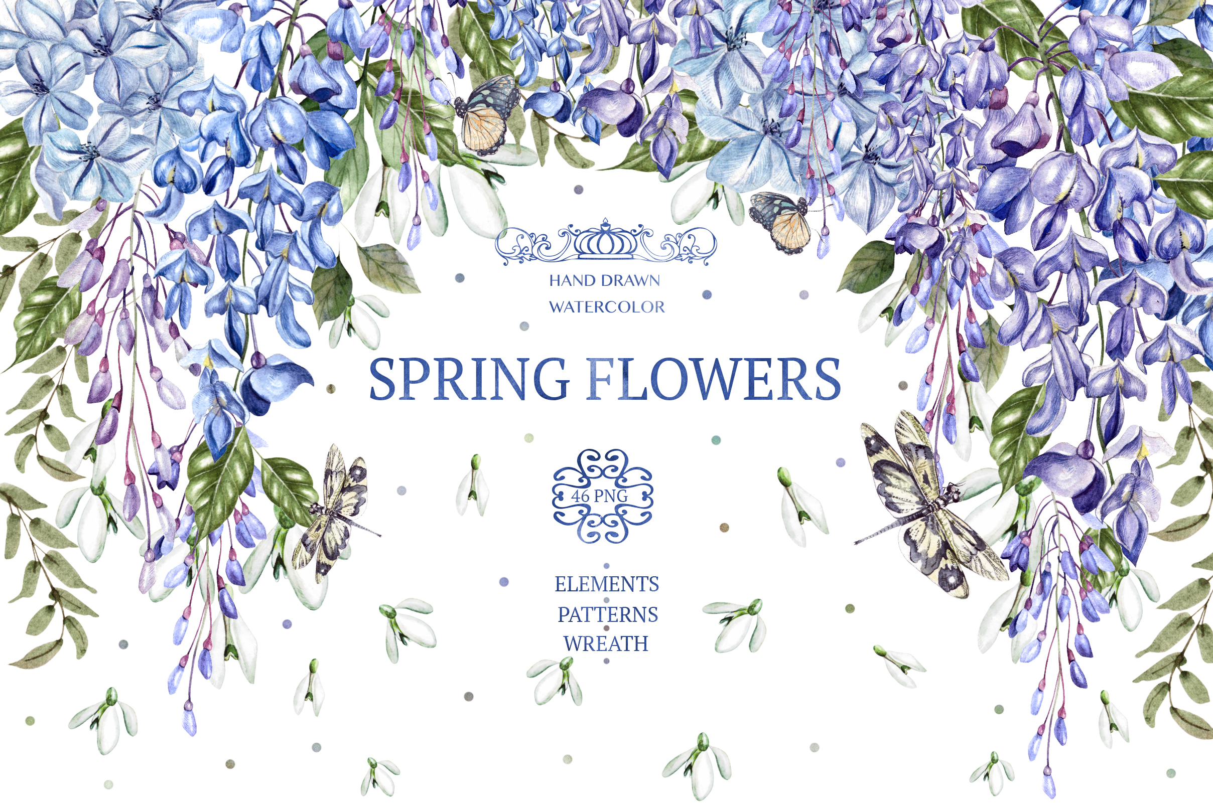 Download Free Watercolor Spring Flowers Graphic By Knopazyzy Creative Fabrica for Cricut Explore, Silhouette and other cutting machines.