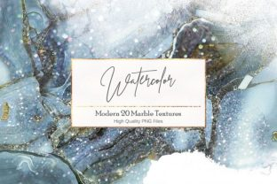 Watercolor and Marble PNG Textures Graphic By artisssticcc