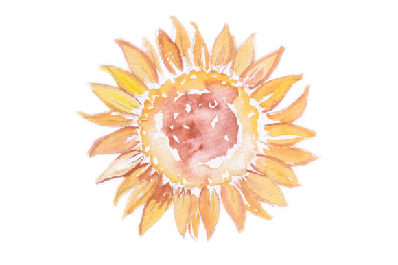 Watercolor Design Sunflower Designs & Drawings Craft Cut File By Creative Fabrica Crafts - Image 1