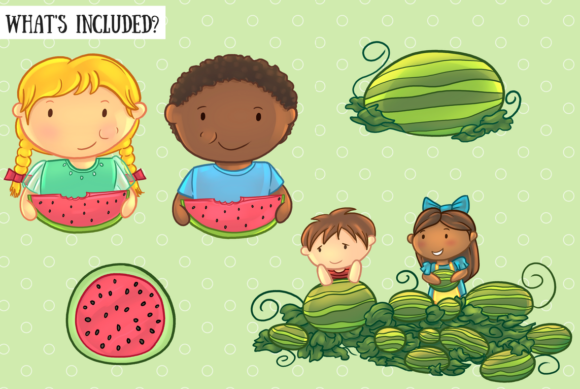 Download Free Watermelon Patch Graphic By Keepinitkawaiidesign Creative Fabrica for Cricut Explore, Silhouette and other cutting machines.