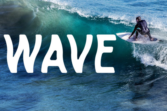 Print on Demand: Wave Display Font By da_only_aan - Image 1