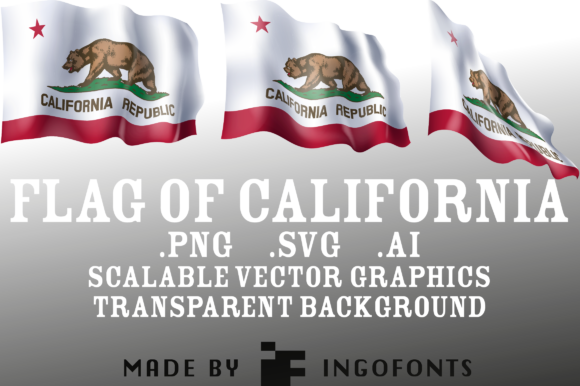 Download Free Waving Flag Of California Grafik Von Ingofonts Creative Fabrica for Cricut Explore, Silhouette and other cutting machines.