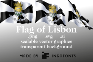 Download Free Waving Flag Of Lisbon Graphic By Ingofonts Creative Fabrica for Cricut Explore, Silhouette and other cutting machines.