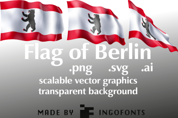 Download Free Waving Flag Of Berlin Graphic By Ingofonts Creative Fabrica for Cricut Explore, Silhouette and other cutting machines.