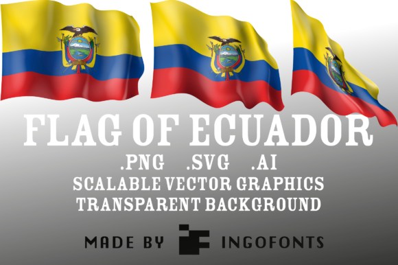 Download Free Waving Flag Of Ecuador Graphic By Ingofonts Creative Fabrica for Cricut Explore, Silhouette and other cutting machines.