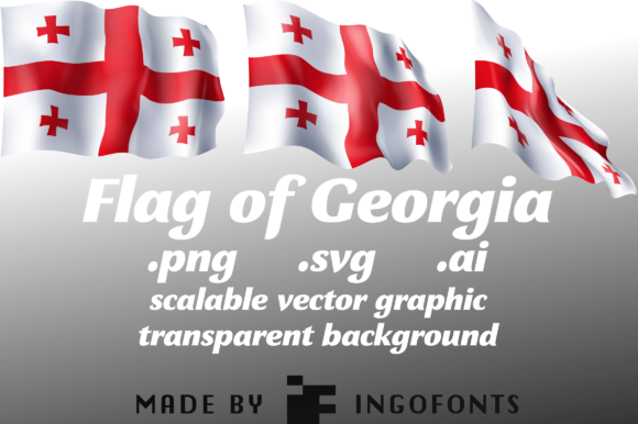 Download Free Waving Flag Of Georgia Graphic By Ingofonts Creative Fabrica for Cricut Explore, Silhouette and other cutting machines.